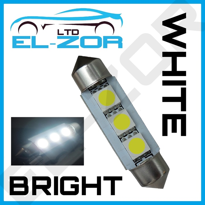 DS 39MM 4 SMD LED FESTOON CANBUS ERROR FREE WHITE NUMBER PLATE BULB 239
