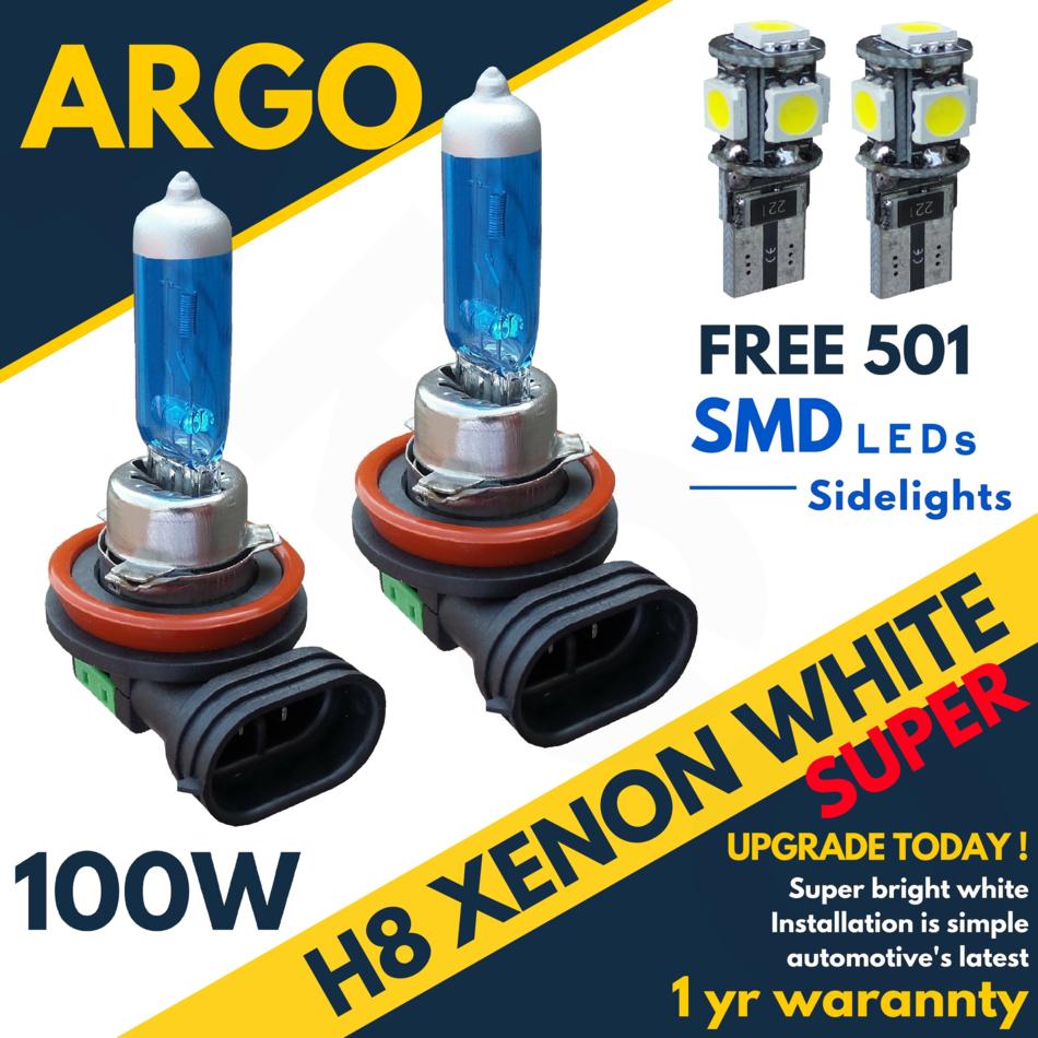 2x H8 708 35w Super Bright White Xenon Headlight Front Fog Drl Bulbs Lamp 12v Uk