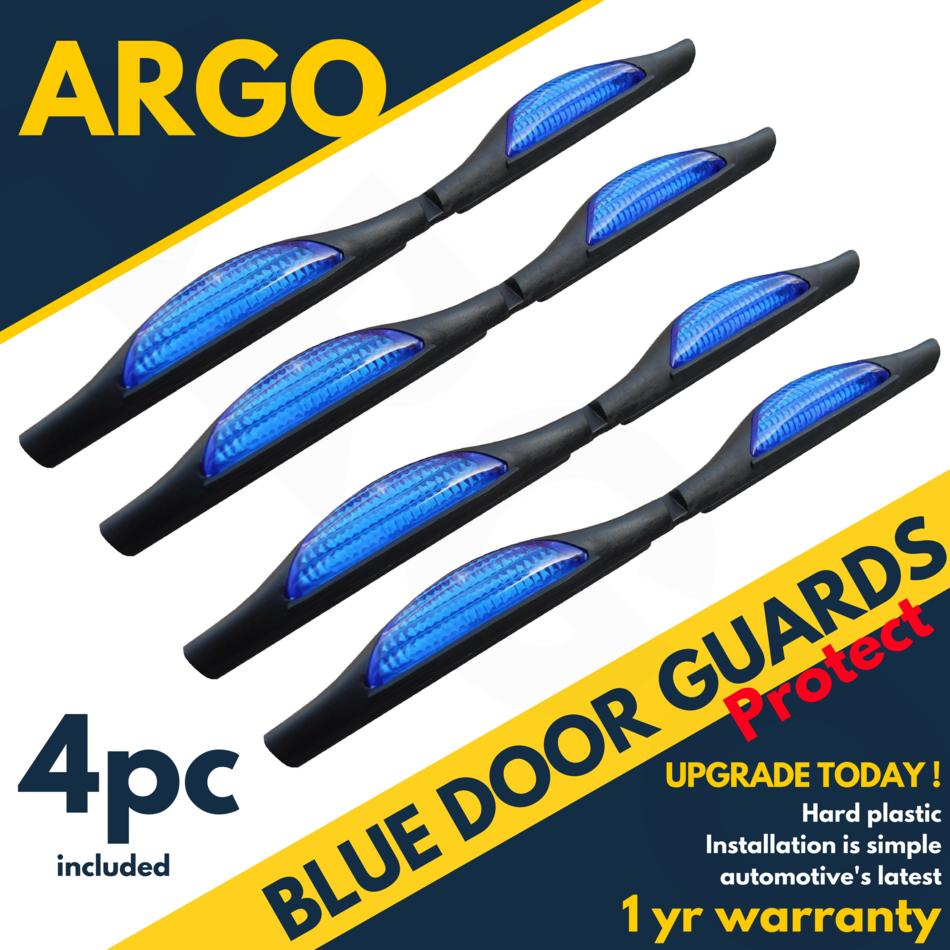 Blue Car Door Protectors Reflectors Door Guards Prevent Scratches Protect Edges
