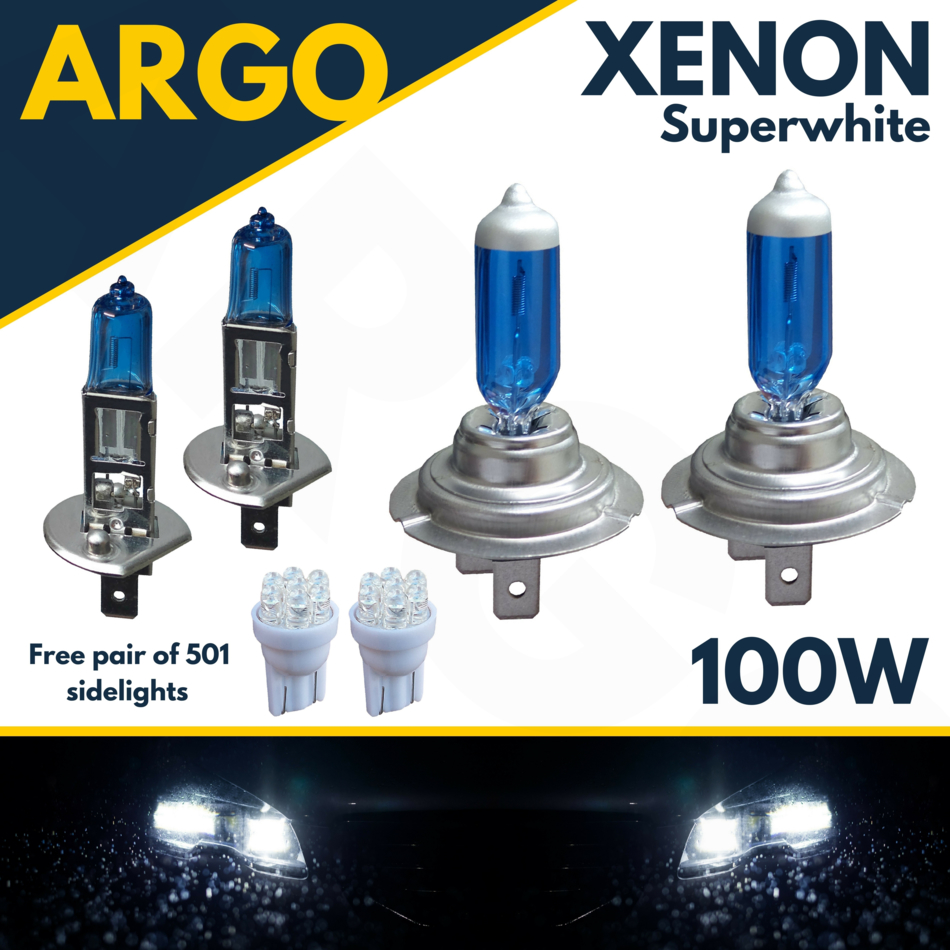 Rover 25 55w Super White Xenon HID High//Low//Side Headlight Bulbs Set