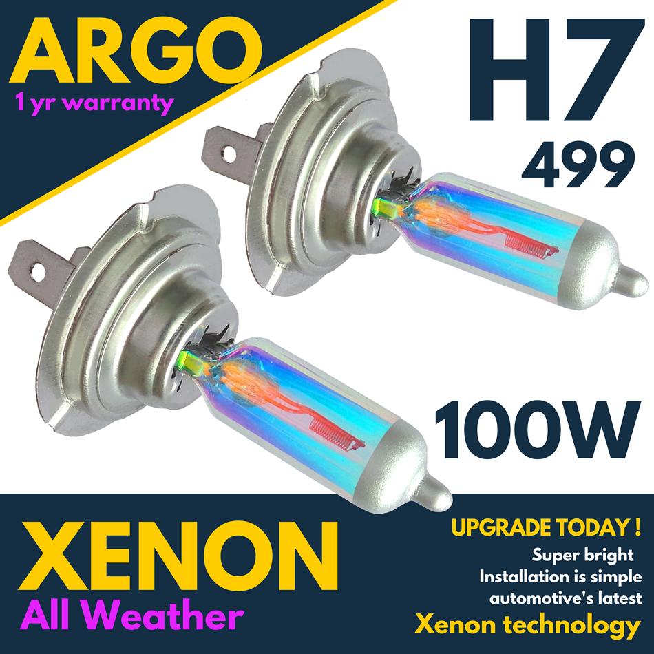 H7 55w White Xenon Headlight Bulbs Fits VW Passat 1.9 TDI