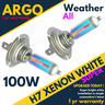 View Item H7 100w Xenon White Super All Weather 499 Halogen Headlight Hid Light Bulbs 12v