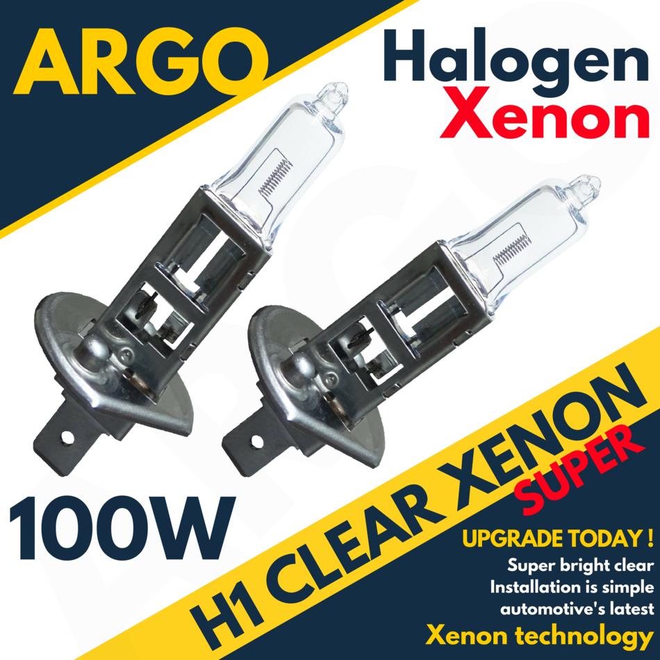 H1 100w Super White Xenon 448 Head Light Bulbs 24v HGV Bright Lorry Truck Bulbs