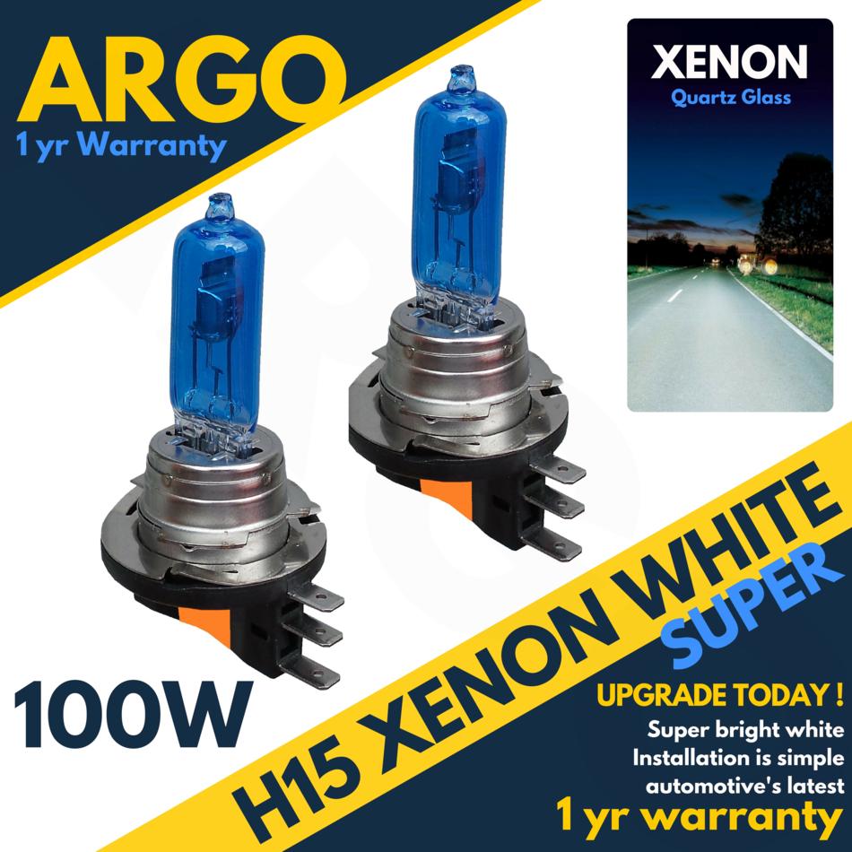 Ford Fiesta MK4 100w Clear Halogen Xenon HID Front Fog Light Bulbs Pair