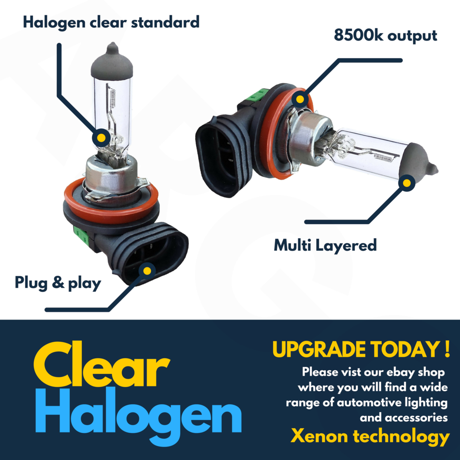 Vauxhall Corsa MK3//D 100w Clear Xenon HID Low//Side Headlight Headlamp Bulbs Set