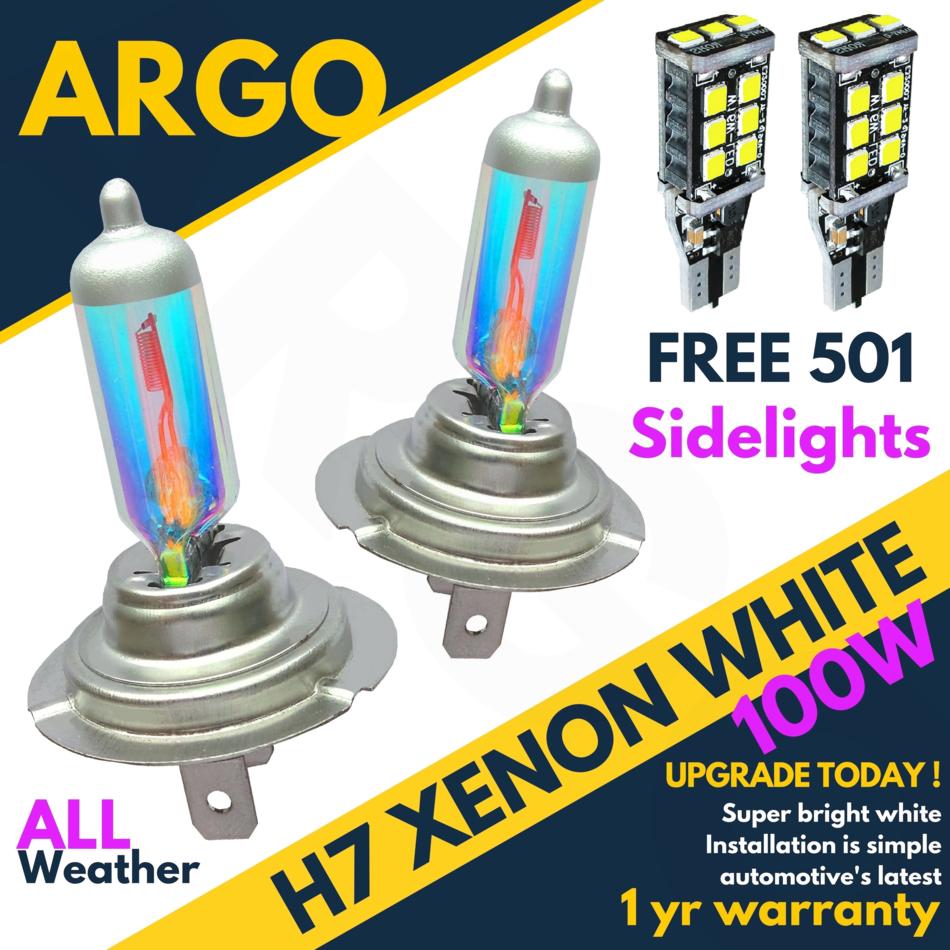 477 55w Xenon Super White Headlight Bulbs Dipped Main Beam 12v Hid 2 X H7 499