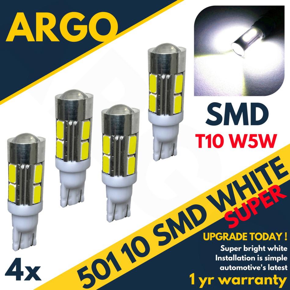 4 x BLUE 9 SMD LED 501 T10 Side//Number Plate Interior Light SUPER BRIGHT