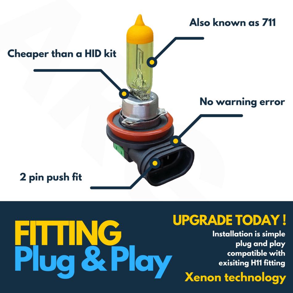 Vauxhall Corsa MK3//D Yellow 4-LED Xenon Side Light Beam Bulbs Pair Upgrade