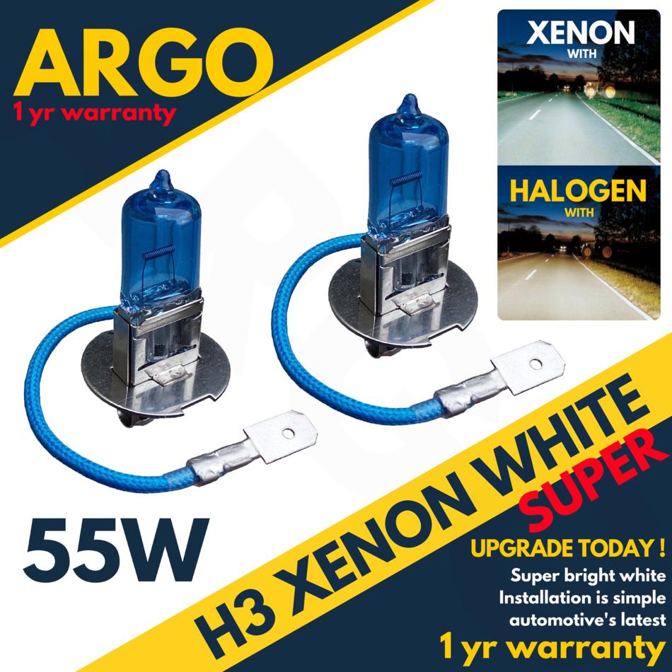 H3 55w SUPER WHITE XENON 453 Upgrade Fog Light Bulbs 12v