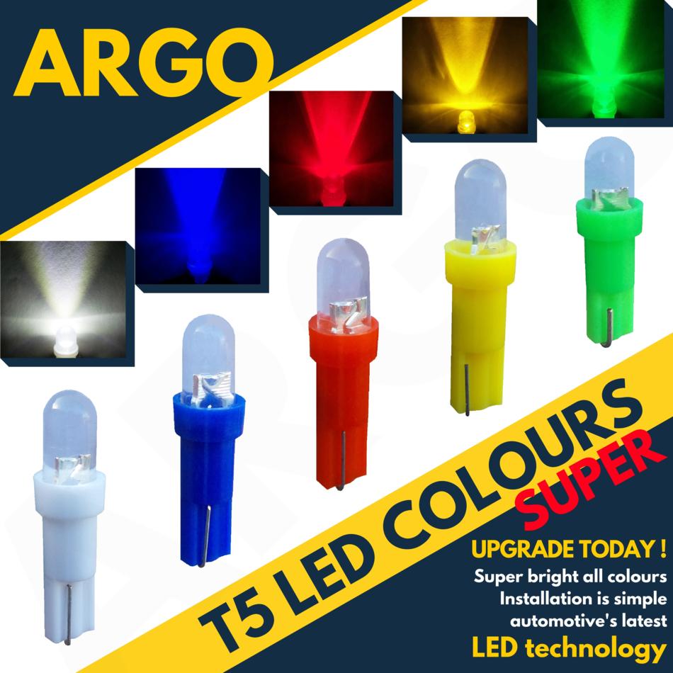 Super Bright T5 286 Smd Led Xenon White Dashboard Bulbs Speedo Wedge Bulb Light