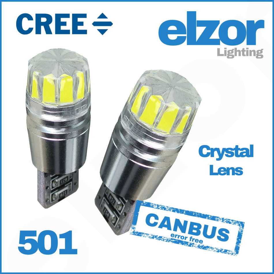 501 T10 194 W5W 5 Bombilla LED Luz Indicadora De Número De Matrícula Luz lateral no error blanco