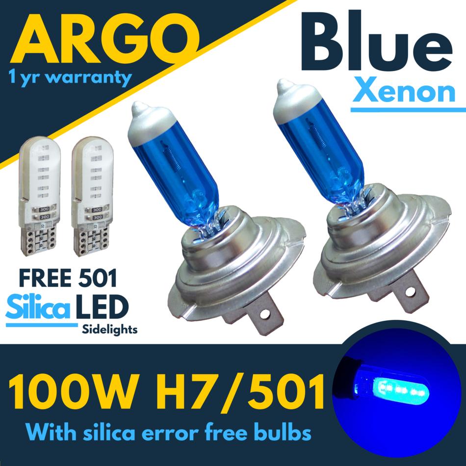 2x H7 CREE LED Bombillas De Xenon Blanco COCHE Faros Faro Halógeno de 477 12v