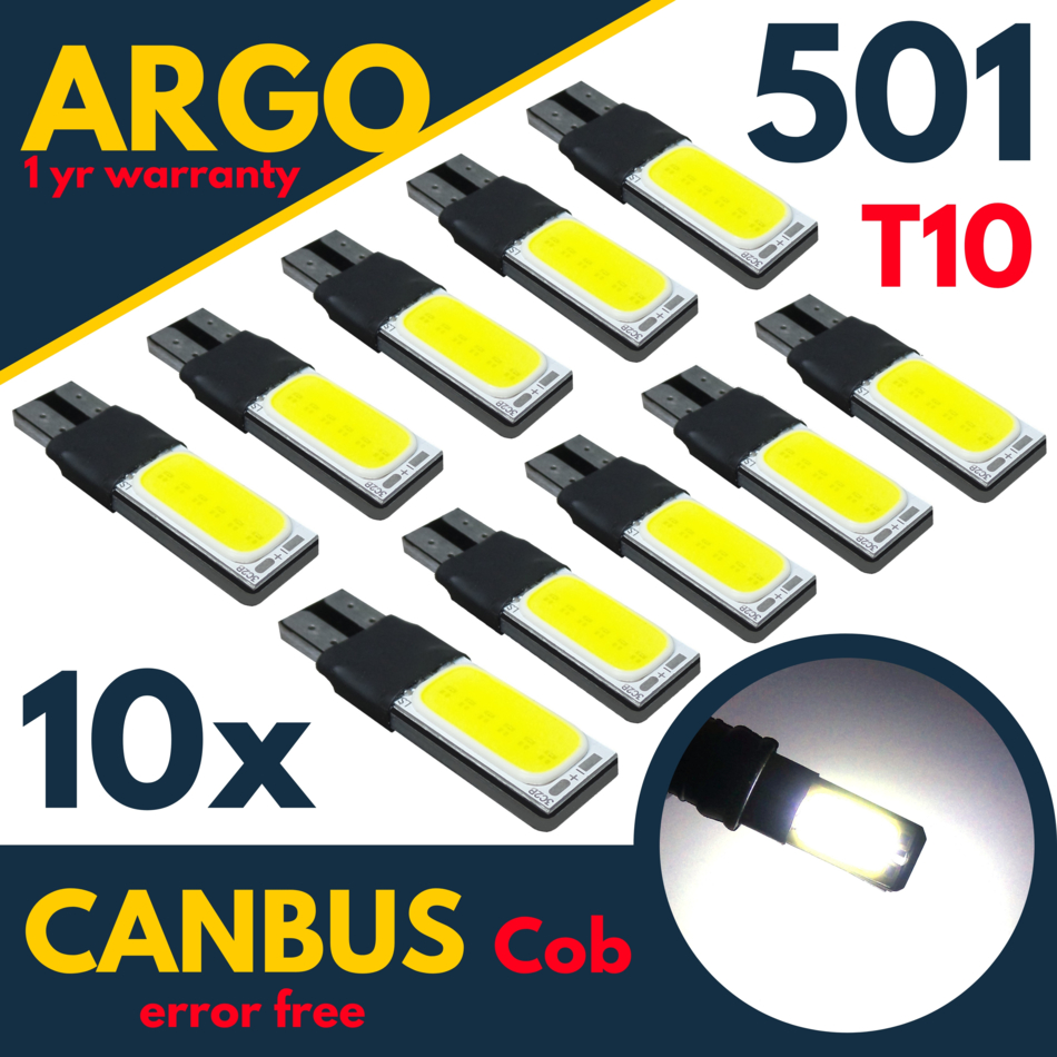 W5W T10 501 4 SMD 1 SIDE LED SIDELIGHT INTERIOR CAN BUS bulbs VAUXHALL 3