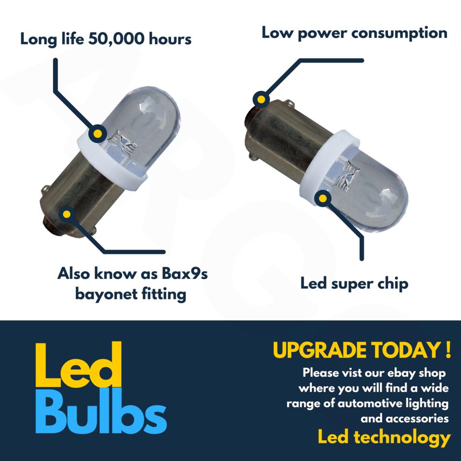 2X 433 433c 434 Bax9s H6w Offset 5 SMD LED Blanc Intérieur Ampoule Clignotant