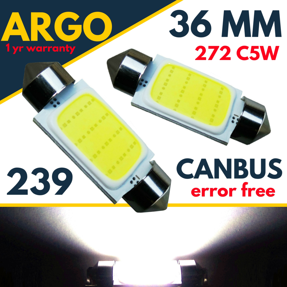 Land Rover Discovery 3 4 2004-2016 White LED Number Plate Light Bulbs *SALE*