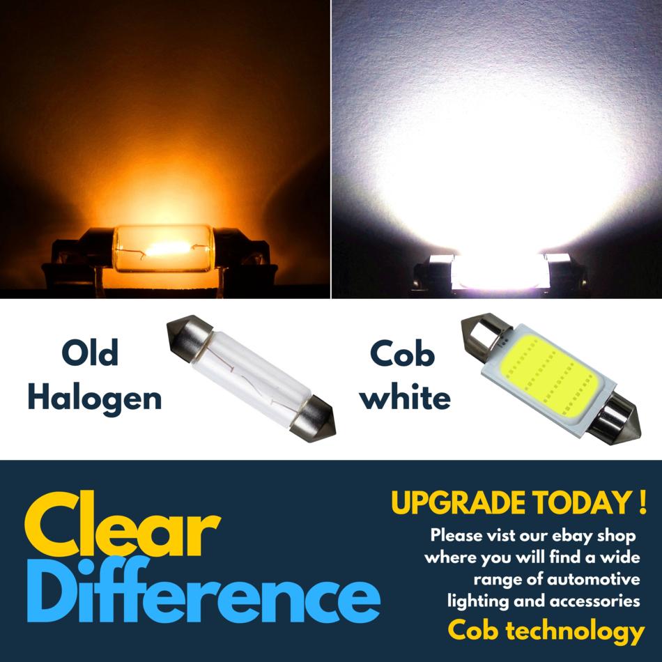 Ford Transit MK5 264 42mm White Interior Courtesy Bulb LED Light Upgrade