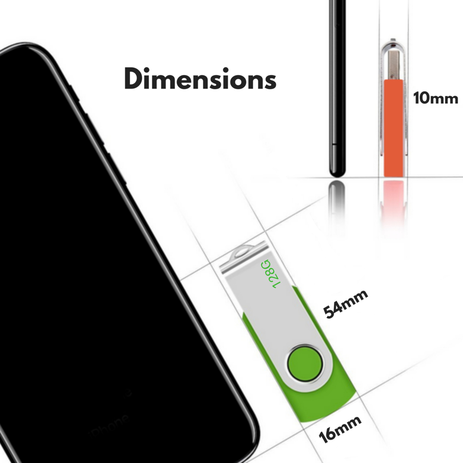 USB Flash Memory Drive 2.0 High Speed Stick Pen Thumb 8GB 16GB 32GB 64GB 128GB