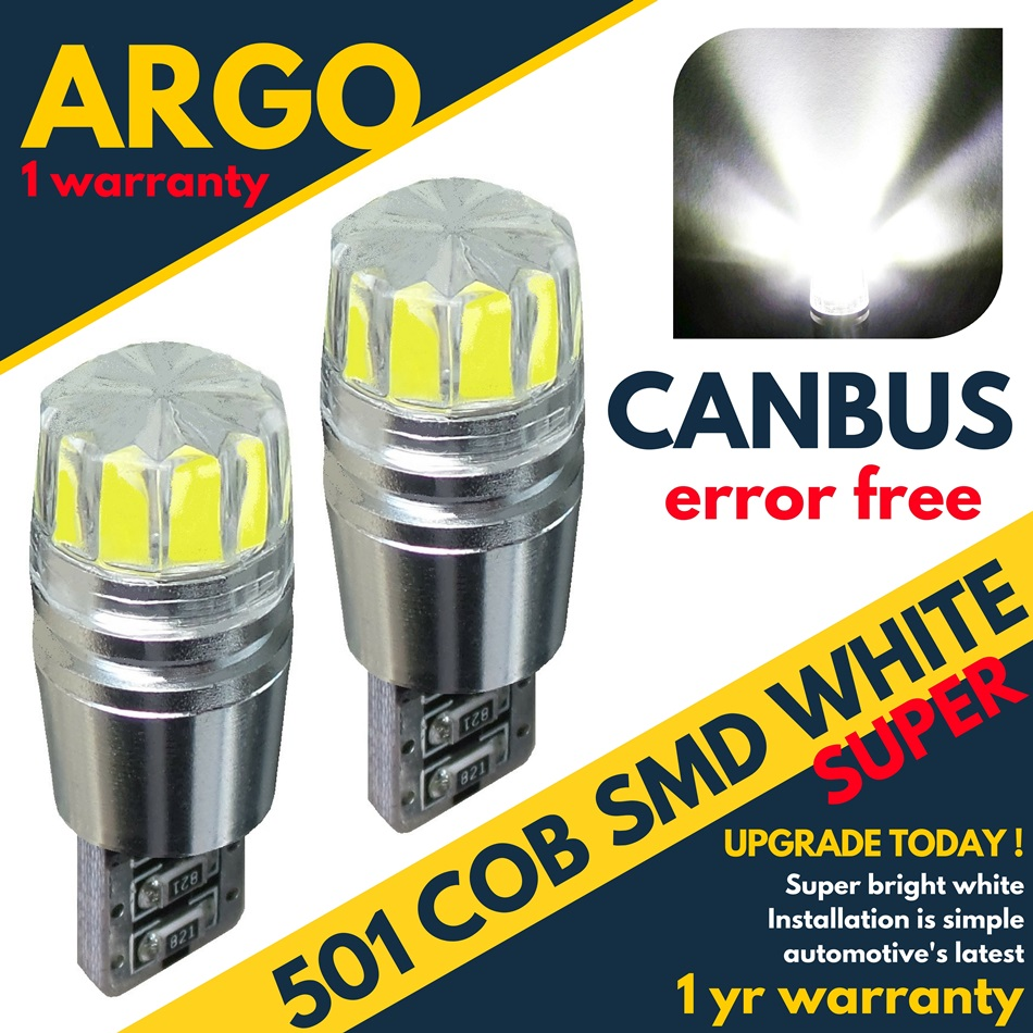 2 Pcs White LED Side Light Beam 57 SMD Bulbs Parking Canbus For Citroen C4 MK1