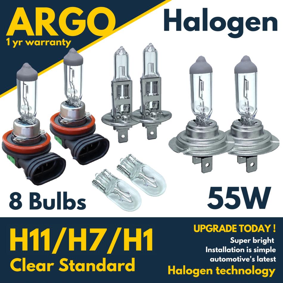 2x H7 Xenon Bulbs 55w 12v White To Fit Headlight Volvo C30 1.6 D