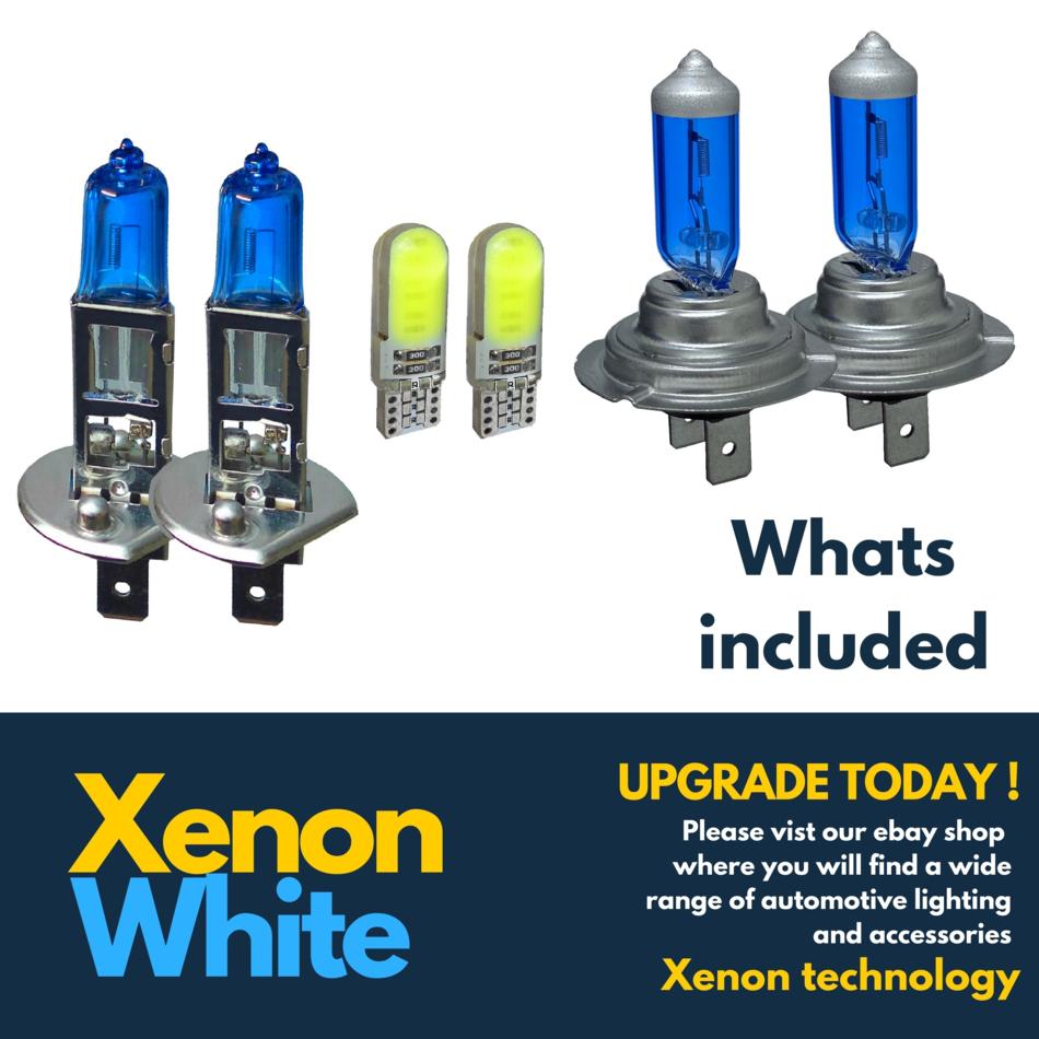 Vauxhall Movano MK2 55w Clear Xenon HID High//Low//Side Headlight Bulbs Set
