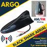View Item 12V BLACK SHARK FIN AERIAL AERO CAR ANTENNA RADIO GPS WORKING AM FM MAST ROOF