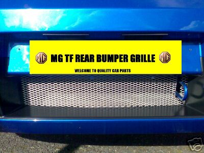 View Item MG TF MGTF CHROME REAR BUMPER GRILLE MESH & INSTRUCTION