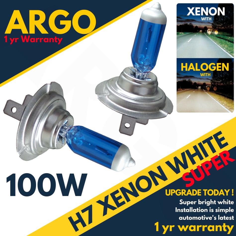 H7 Super HID 55w 5500k 12v Xenon White Effect Look Headlight Lamps Light Bulbs