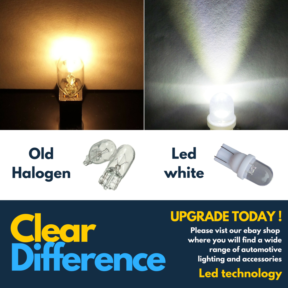 100w Super White Upgrade Xenon High//Low//Canbus LED Side Light Bulbs Set
