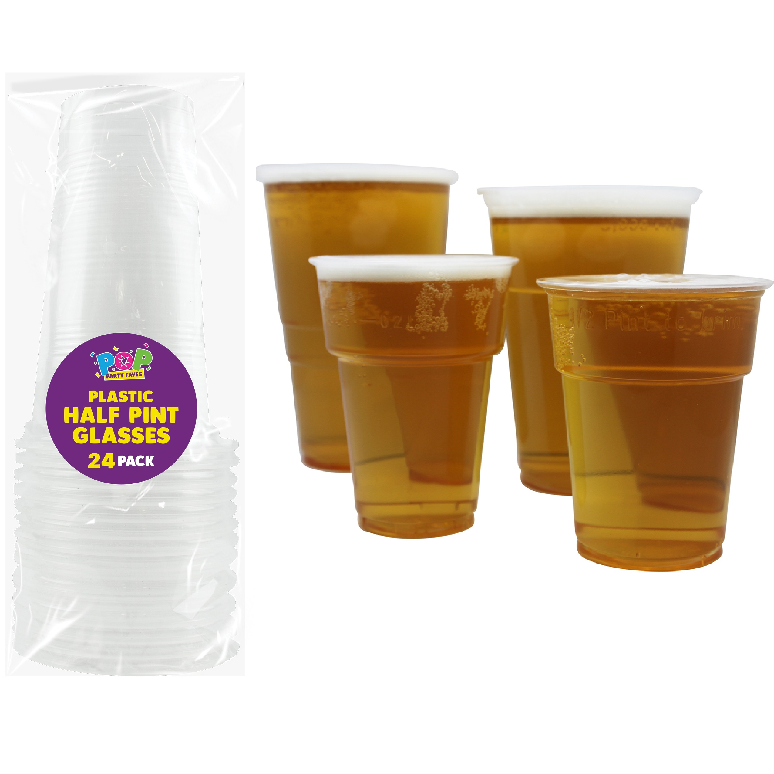 Strong Plastic Crystal Clear Hard disposable Tumblers Cups For Drink,Party,Pint