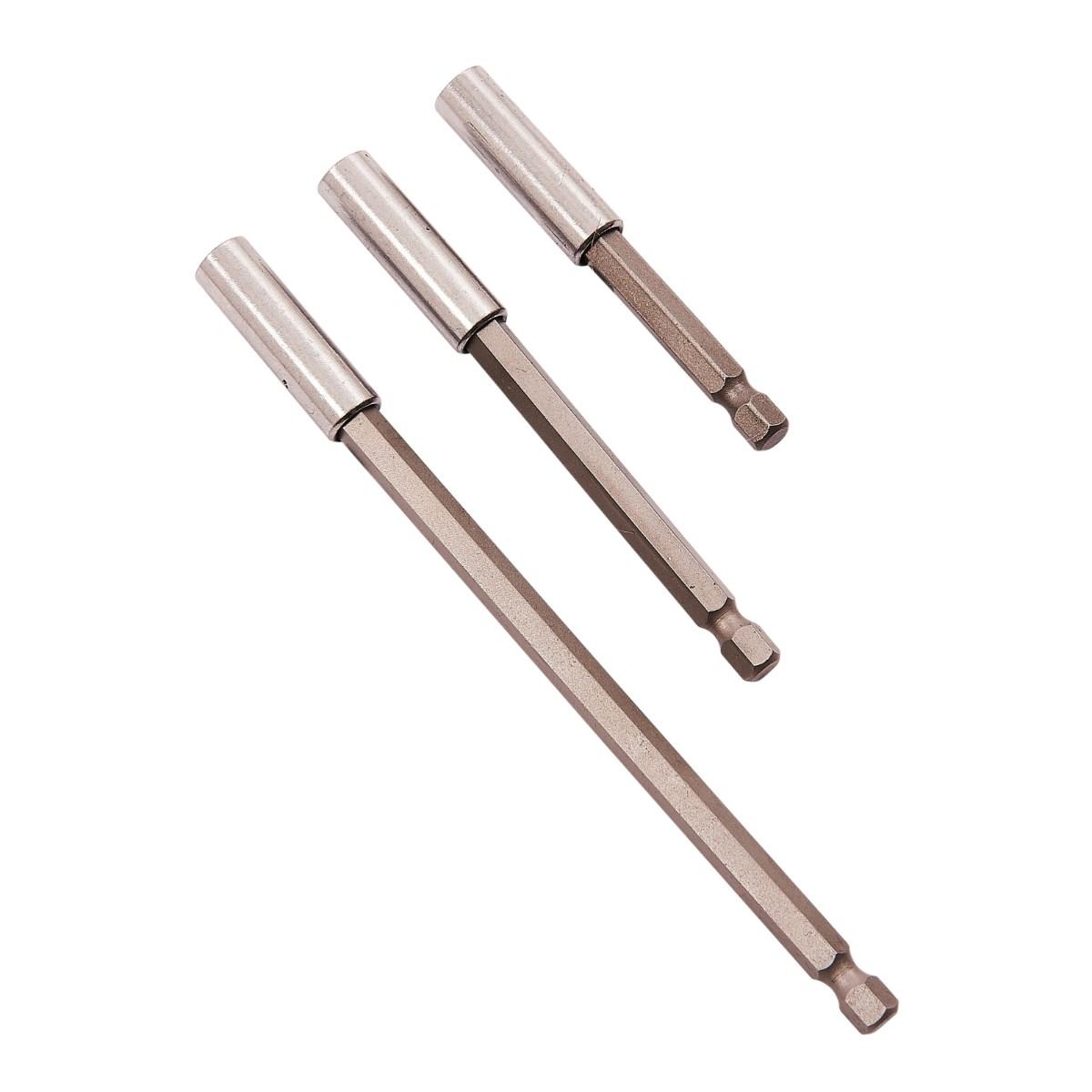 """60-150mm Magnetic Bit Holder Extension Long Reach 1//4/"""" Hex Shank Extending Bar"""