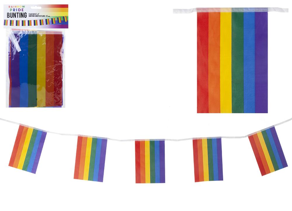 Pride Rainbow Lantern Garland 3.65m Festival Parade Party Decorations