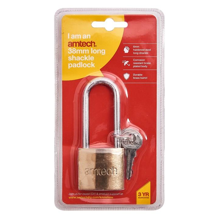 Am-tech Pesado Alarma Candado Con 3 llaves