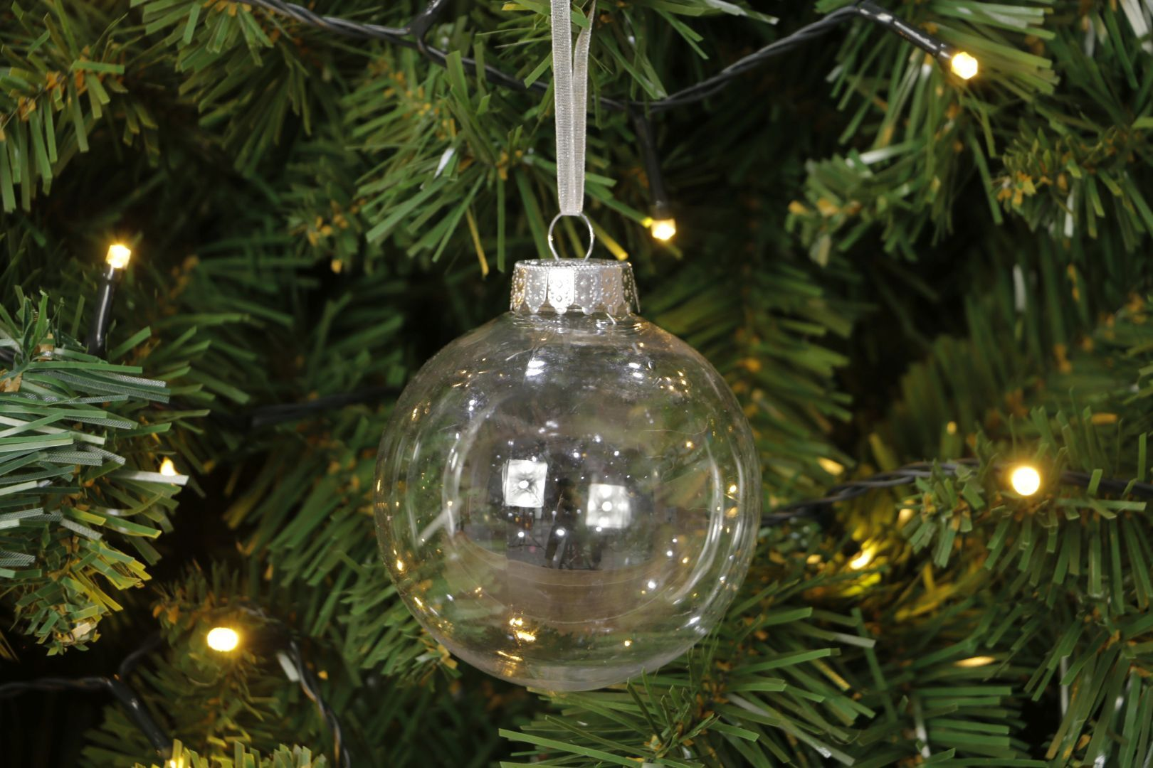 Boule Plastique A Decorer détails sur 80mm plastique transparent à remplir boule décoration arbre pré  filète