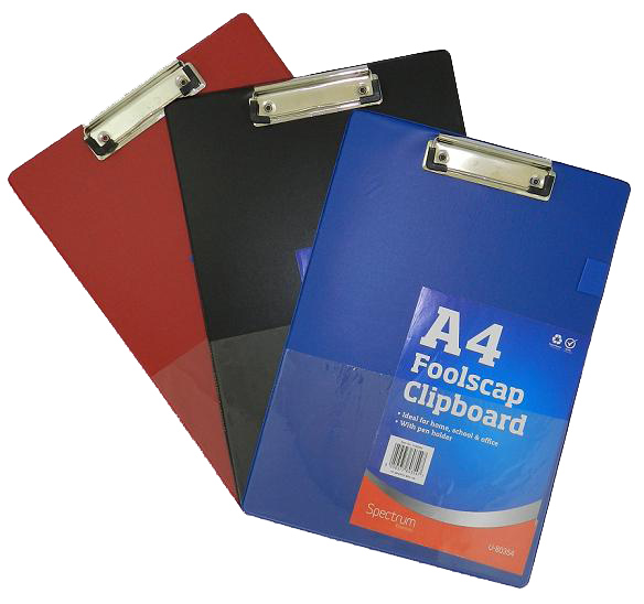 A4 Clipboard with Pen Holder Black Blue Document Holder Clip Board Hard New