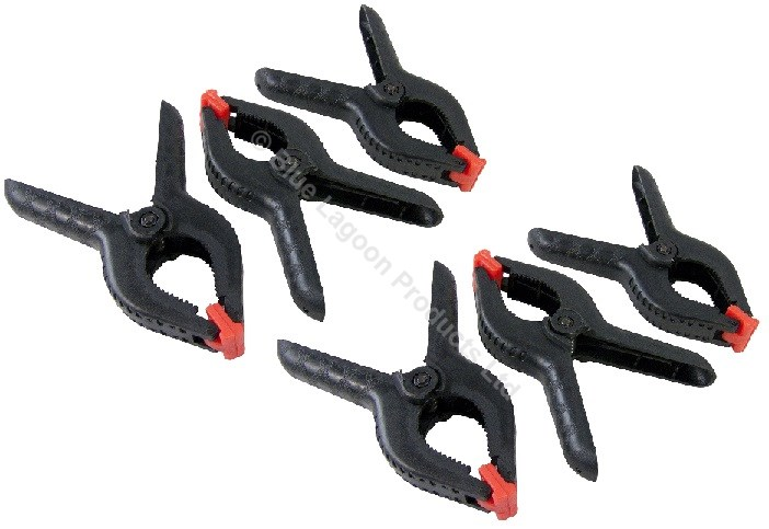 """5x 4/"""" Spring Clamps Large Strong Plastic Market Stall Clips Nylon Tarpaulin"""
