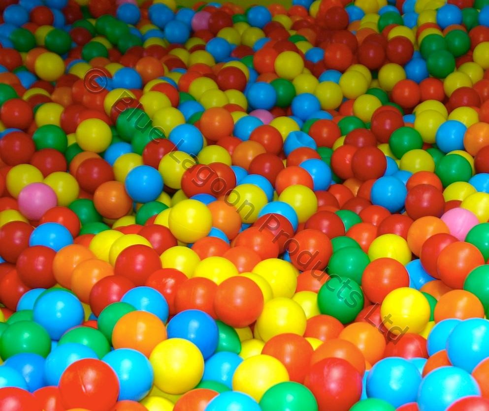 100 x Ball Pool Balls Refill Soft Play Put Extra Coloured Children ...