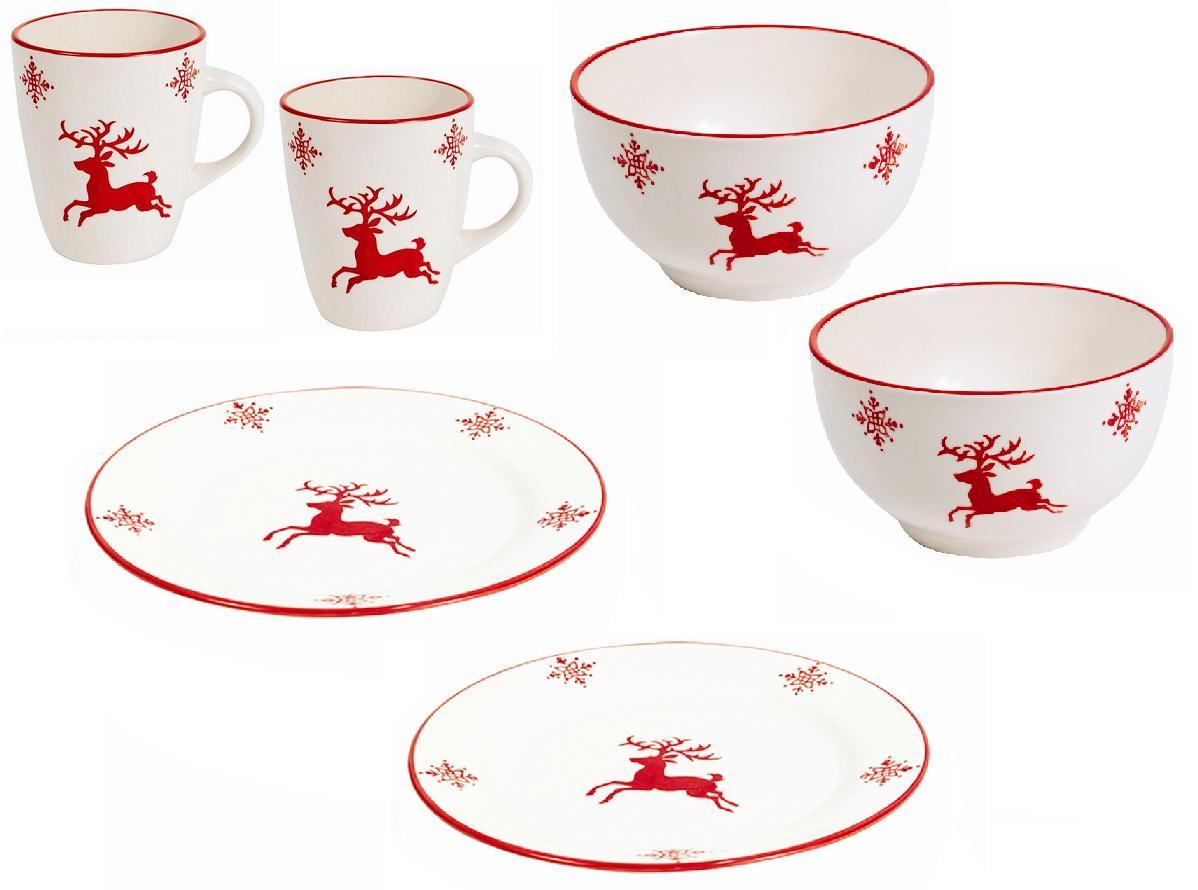 Reindeer Christmas Dinnerware - christmas dinnerware! | White ...