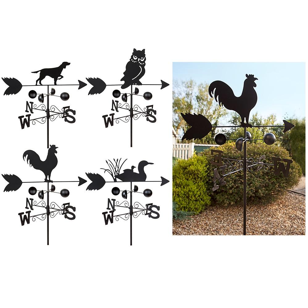 1.4m M Dark métal Girouette décoration jardin décor Vent Vitesse ...