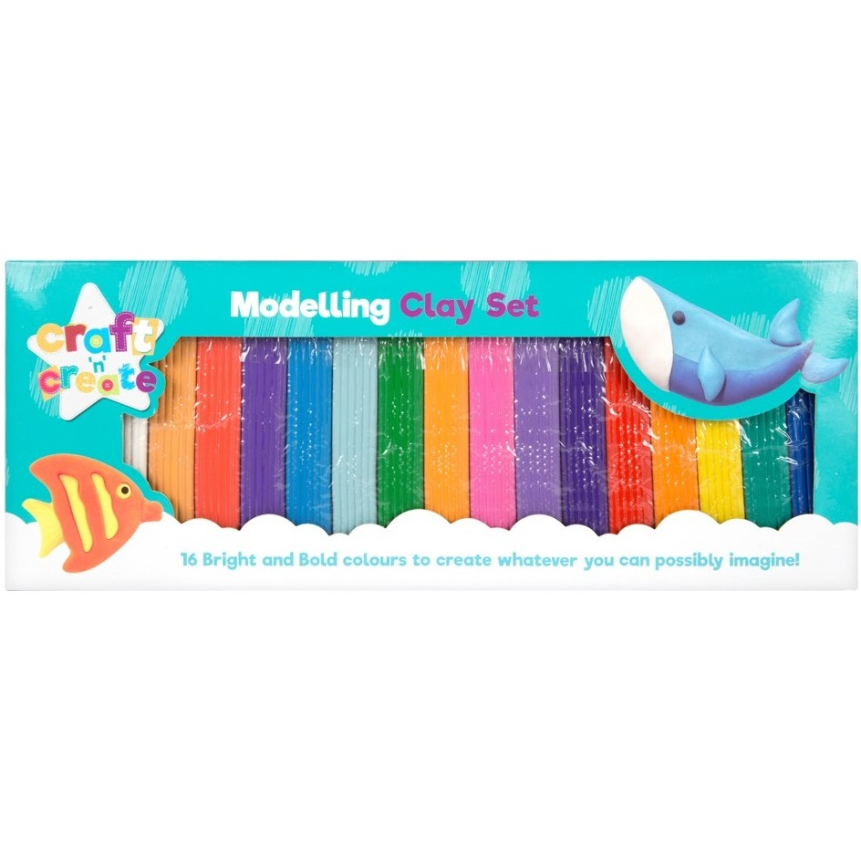 Sentinel 16 Colours Modelling Clay Strips For Children Kids Art Craft Plasticine Party