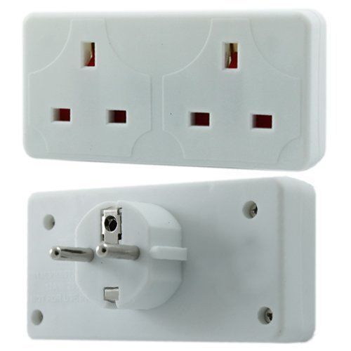 Design Go Uk To Europe Double Adapter Adapter Types C Or F Aten Ps2 To Usb Adapter Samsung Type C Otg Adapter: 2 Way European Travel Electrical Socket Adaptor Eu 2 Pin