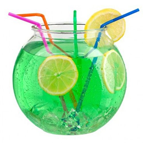2 litre 6 durable plastic cocktail fish bowl party drinks for Fish bowl drink