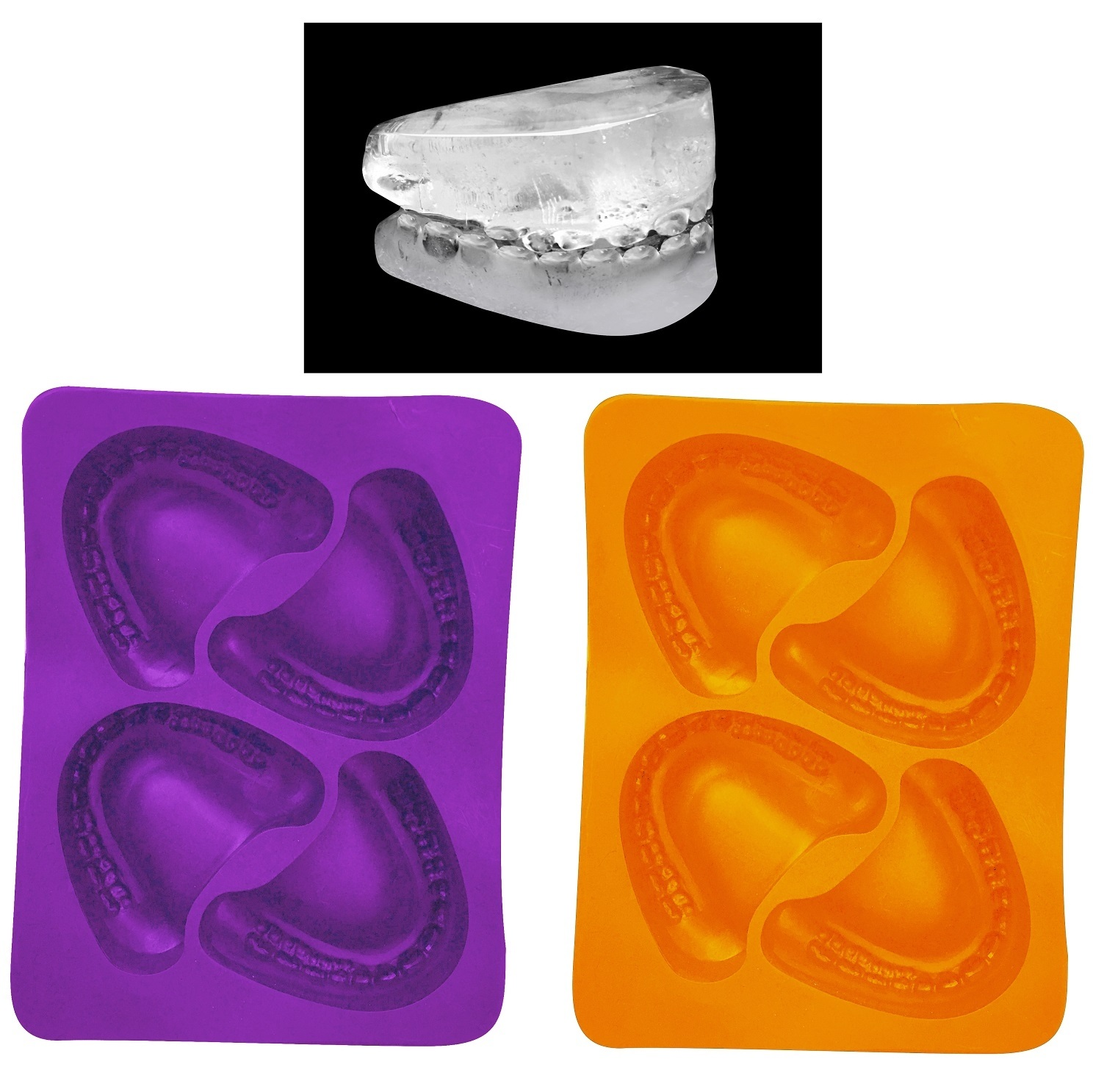 halloween skeleton teeth ice cube tray molds party decoration drinks