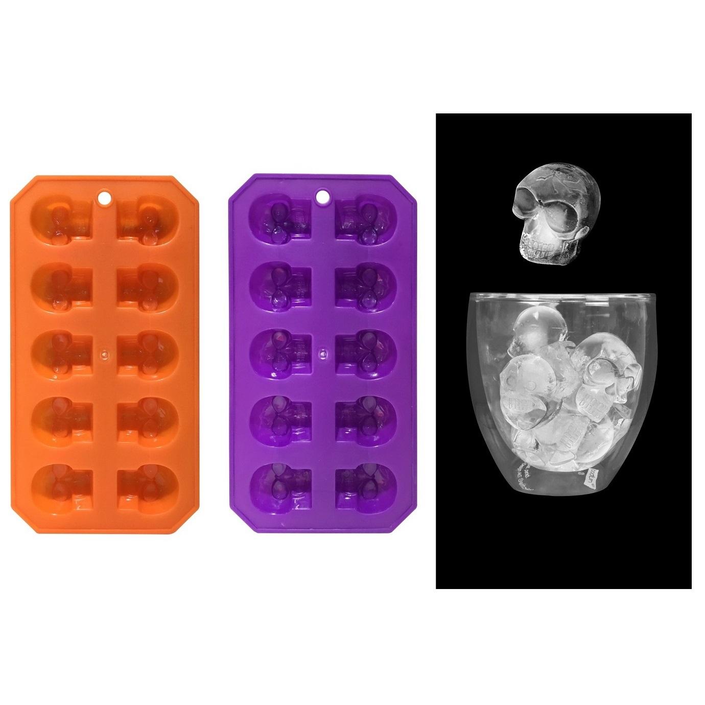halloween skull skeleton ice cube tray molds party decoration drinks