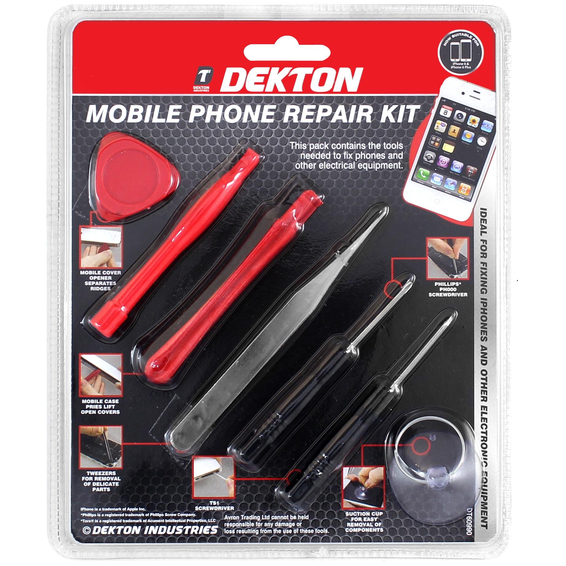 7pc dekton handy reparatur werkzeuge set display schraubendreher iphone samsung 5055441407005 ebay. Black Bedroom Furniture Sets. Home Design Ideas