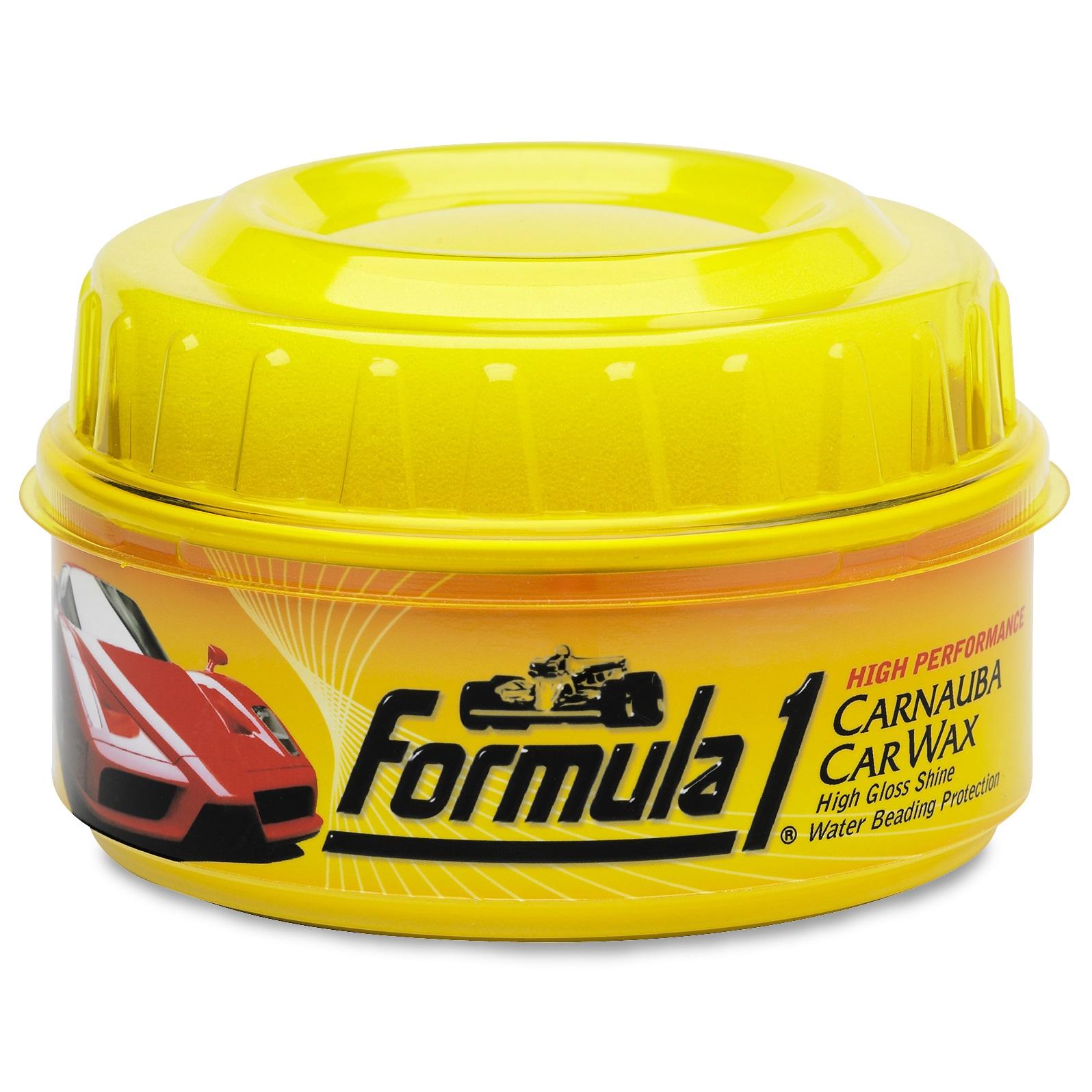 Formula 1 Carnauba Wax Car High Gloss Shine Polish No Water Beading Carb Jet Soft99 Made In Japan Sentinel Scratch 340g
