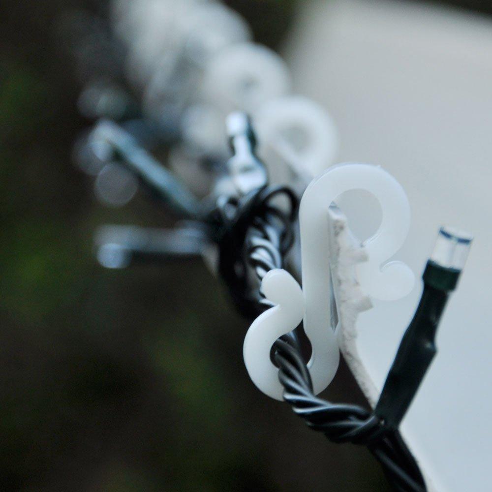 35mm 24pc Mini Gutter Hanger Hooks Christmas Decorations