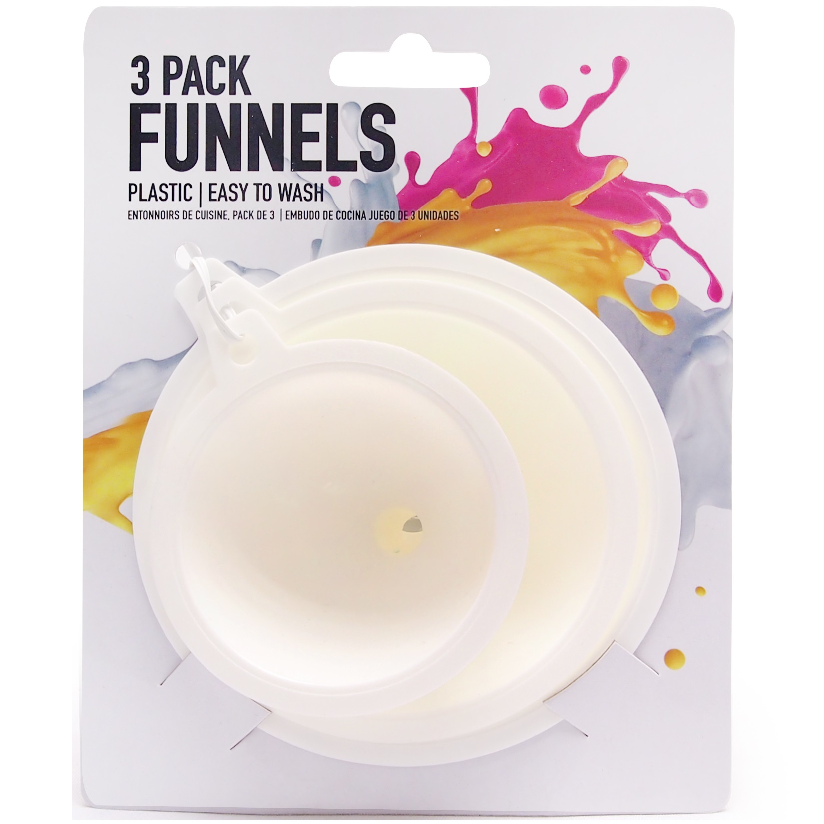 3pc Funnels With Handles Kitchen Utensils Easy Clean Tools