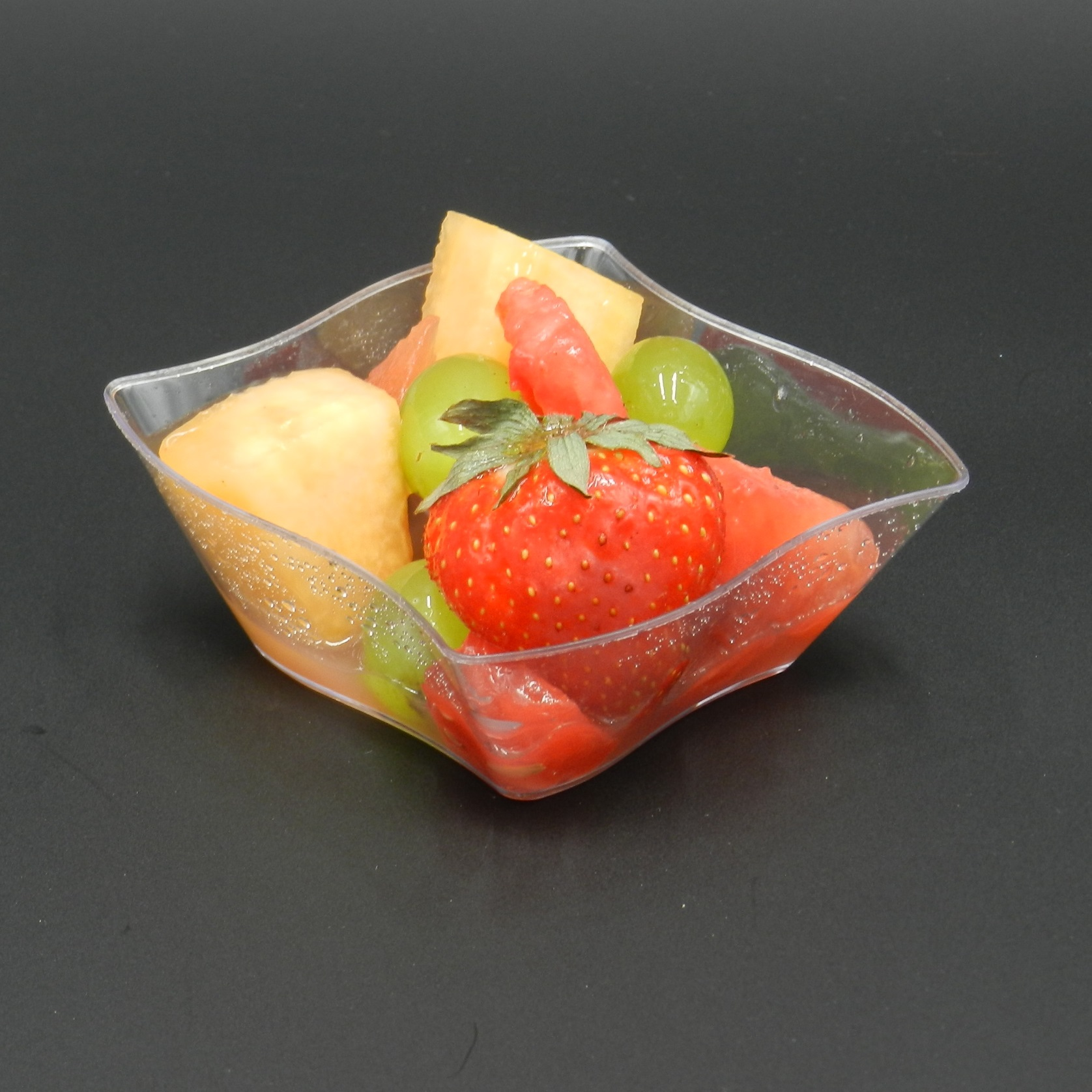 Pro plastic canape appetiser plates bowl dish trays buffet for Plastic canape dishes