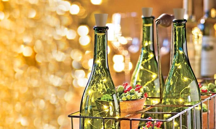 One LED Bottle Warm Light Wine Cork Stopper Battery Decoration Party Unique Decorative Bottles With Corks