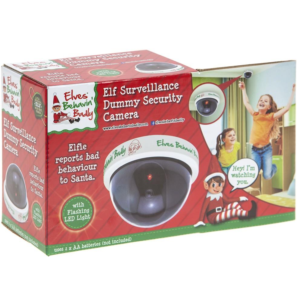 Sentinel Elf Santa Cam Dummy Cctv Camera For Kids Naughty Nice List Surveillance